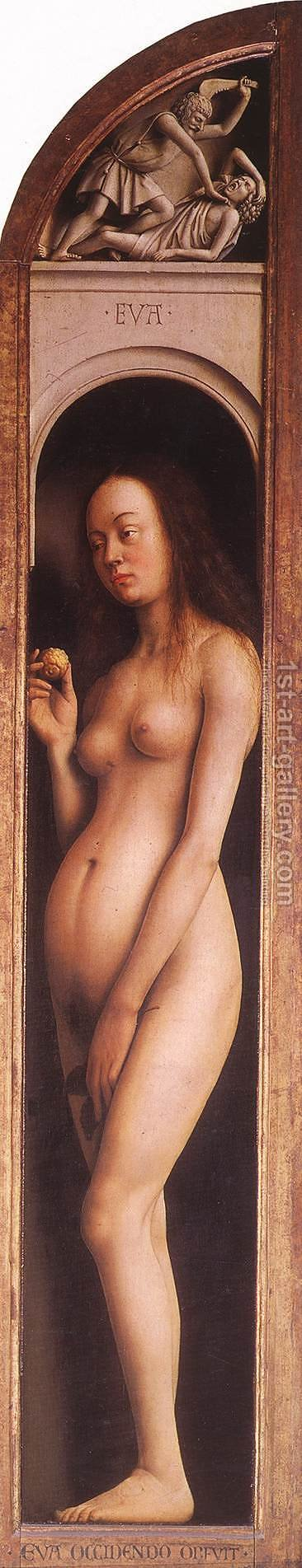 The Ghent Altarpiece Eve; The Killing of Abel by Jan Van Eyck - Reproduction Oil Painting