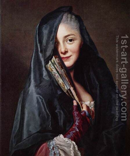 The Lady with the Veil (The Artist's Wife) by Alexander Roslin - Reproduction Oil Painting