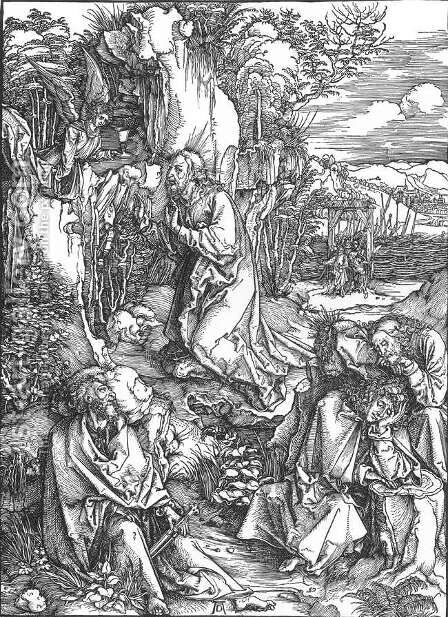 The Large Passion 2. Christ on the Mount of Olives by Albrecht Durer - Reproduction Oil Painting