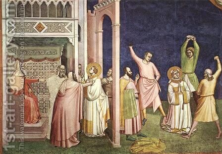 The Martyrdom of St Stephen by Bernardo Daddi - Reproduction Oil Painting