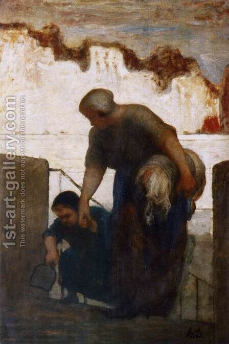 The Washerwoman by Honoré Daumier - Reproduction Oil Painting