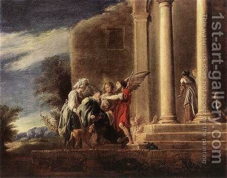 Tobias Healing his Father by Domenico Feti - Reproduction Oil Painting