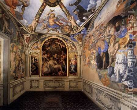 View of the Chapel of Eleonora da Toledo by Agnolo Bronzino - Reproduction Oil Painting