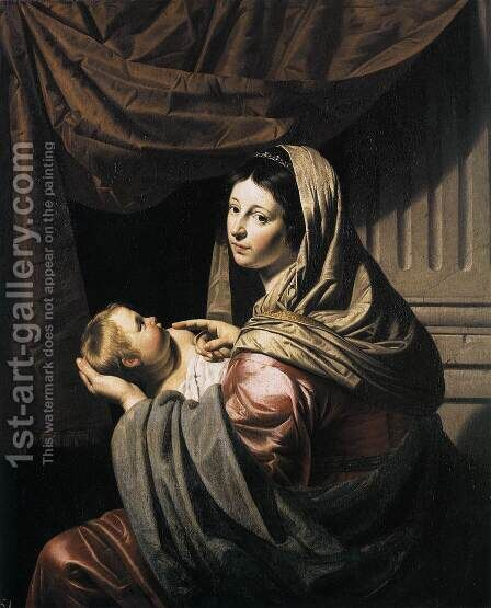Virgin and Child by Jan Van Bijlert - Reproduction Oil Painting