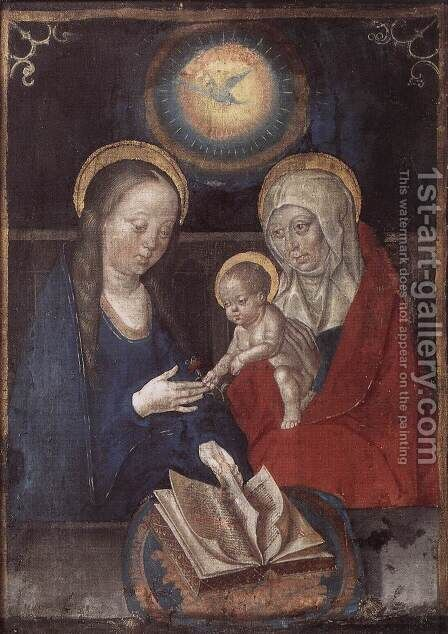 Virgin and Child with St Anne by - Unknown Painter - Reproduction Oil Painting