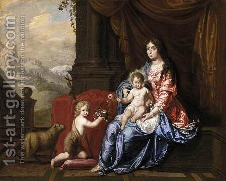 Virgin with Child and the Infant St John the Baptist by Hieronymus Janssens - Reproduction Oil Painting