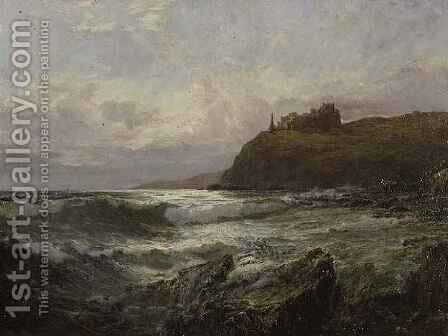 Tantallon Castle East Lothian by Claude Hayes - Reproduction Oil Painting