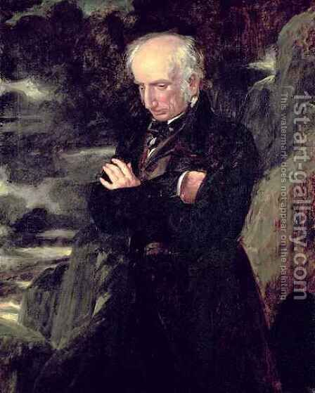 Portrait of William Wordsworth 1770-1850 by Benjamin Robert Haydon - Reproduction Oil Painting