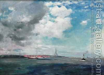 New Brighton from the Mersey by James Hamilton Hay - Reproduction Oil Painting
