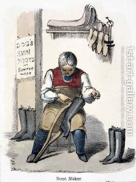 The Boot Maker by Benjamin Waterhouse Hawkins - Reproduction Oil Painting