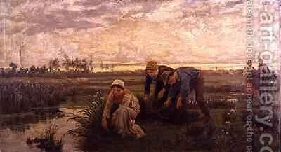Rush Cutters by Alice Mary Havers - Reproduction Oil Painting