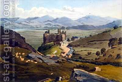 Harlech Castle by Daniel Havell - Reproduction Oil Painting