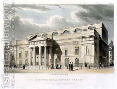 Theatre Royal Covent Garden in London by Daniel Havell - Reproduction Oil Painting