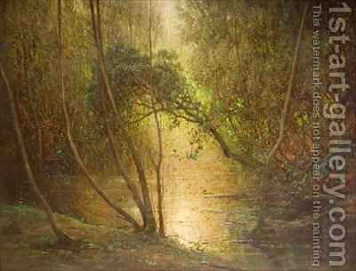 Woodland Waters by Benjamin Haughton - Reproduction Oil Painting