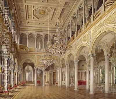 The Pavilion Hall The Small Hermitage by Eduard Hau - Reproduction Oil Painting