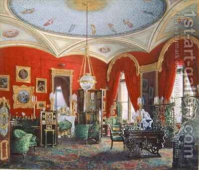 Interior of the Winter Palace by Eduard Hau - Reproduction Oil Painting