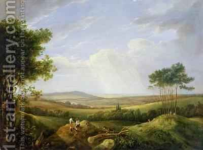 Landscape with Figures by Captain Thomas Hastings - Reproduction Oil Painting