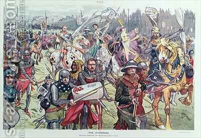 The Crusaders Marching Embattled Gainst the Saracens of Graft by C. Hassman - Reproduction Oil Painting