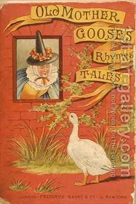 Front cover of Old Mother Gooses Rhymes and Tales by Constance Haslewood - Reproduction Oil Painting