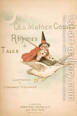 Titlepage of Old Mother Gooses Rhymes and Tales by Constance Haslewood - Reproduction Oil Painting