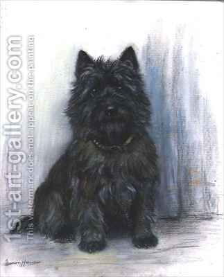 Study of a Scottie by Marion Rodger Hamilton Harvey - Reproduction Oil Painting