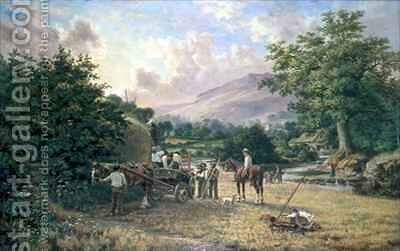 The Haymakers by C.H. Hart - Reproduction Oil Painting