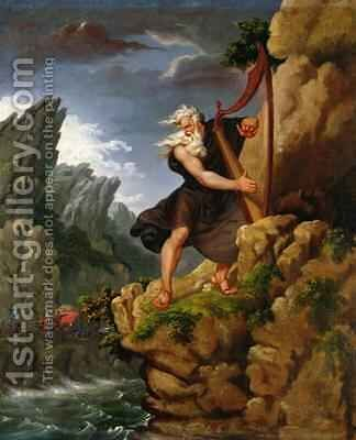 The Bard after an original by Philip James de Loutherbourg 1740-1812 by J. Harrison - Reproduction Oil Painting