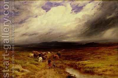 The Drovers Road by Edward Hargitt - Reproduction Oil Painting