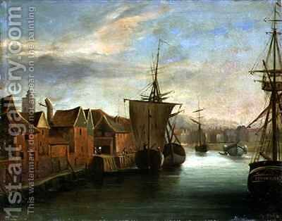 St Catherines Quay Ipswich by Jabez Hare - Reproduction Oil Painting