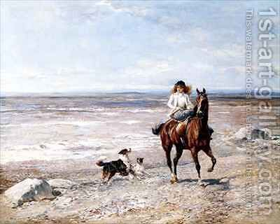 Pony Ride on the Beach by Heywood Hardy - Reproduction Oil Painting