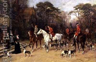 The Meet at the Manor House by Heywood Hardy - Reproduction Oil Painting