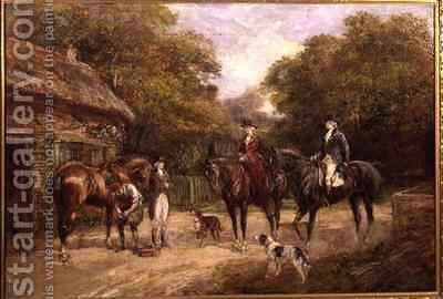 Halt at the Blacksmiths by Heywood Hardy - Reproduction Oil Painting
