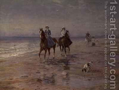 A Ride on the Beach Dublin by Heywood Hardy - Reproduction Oil Painting