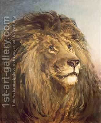 A Lions Head by Heywood Hardy - Reproduction Oil Painting