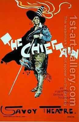 Reproduction of a poster advertising The Chieftain Savoy Theatre by Dudley Hardy - Reproduction Oil Painting