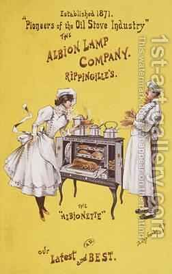 Advertisement for The Albionette oven by Dudley Hardy - Reproduction Oil Painting
