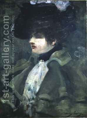 Portrait of Sarah Bernhardt by Dudley Hardy - Reproduction Oil Painting