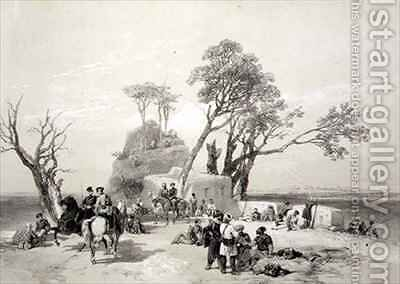 Panjab Outpost of Rhodawala Occupied by the British Piquets by (after) Hardinge, Charles Stewart - Reproduction Oil Painting