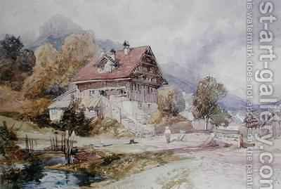 Chalet Brunnen Lake Lucerne by James Duffield Harding - Reproduction Oil Painting