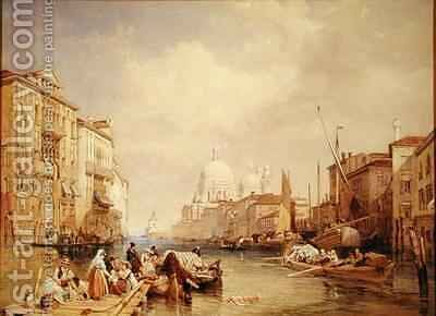 The Grand Canal Venice 2 by James Duffield Harding - Reproduction Oil Painting