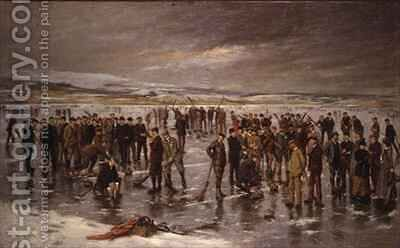 Curling at Carsebreck by Charles Martin Hardie - Reproduction Oil Painting