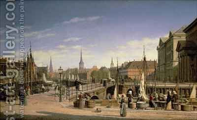 Copenhagen by Heinrich Hansen - Reproduction Oil Painting