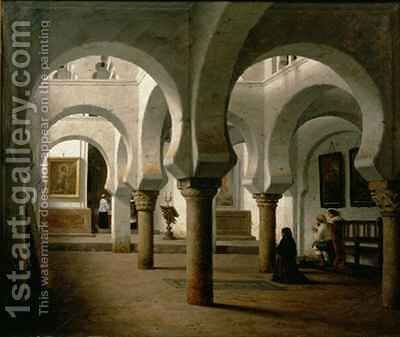 A Side Chapel Pisa Cathedral by Heinrich Hansen - Reproduction Oil Painting