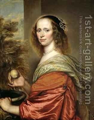 Portrait of a Woman by Adriaen Hanneman - Reproduction Oil Painting