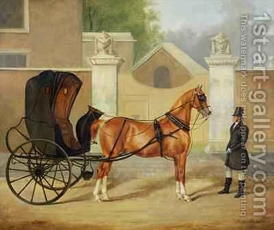 Gentlemens Carriages A Cabriolet by Charles Hancock - Reproduction Oil Painting