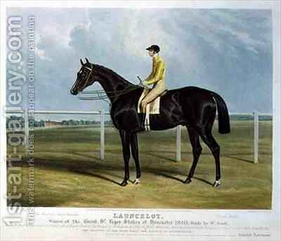Launcelot Winner of the Great St Leger Stakes at Doncaster by Charles Hancock - Reproduction Oil Painting