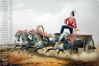 Carriage Racing by Charles de Hampeln - Reproduction Oil Painting