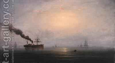 Foggy Morning on the Thames by James Hamilton - Reproduction Oil Painting