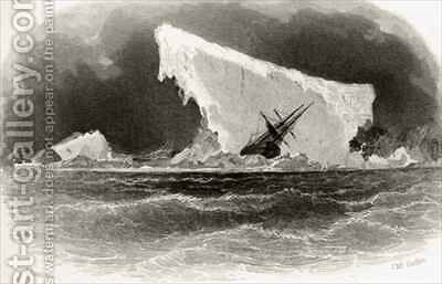 Ship Wrecked on Iceberg by James Hamilton - Reproduction Oil Painting