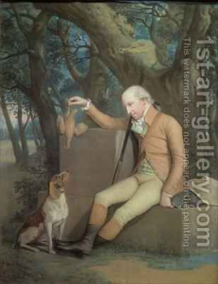 Portrait of Sir Horatio Mann 1744-1814 with his Hound by Hugh Douglas Hamilton - Reproduction Oil Painting